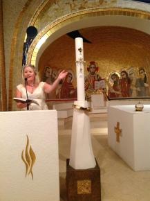 Chapel of All the Saints of Ireland (by M.I. Rupnik SJ), Pontifical Irish College, Rome July 2013.