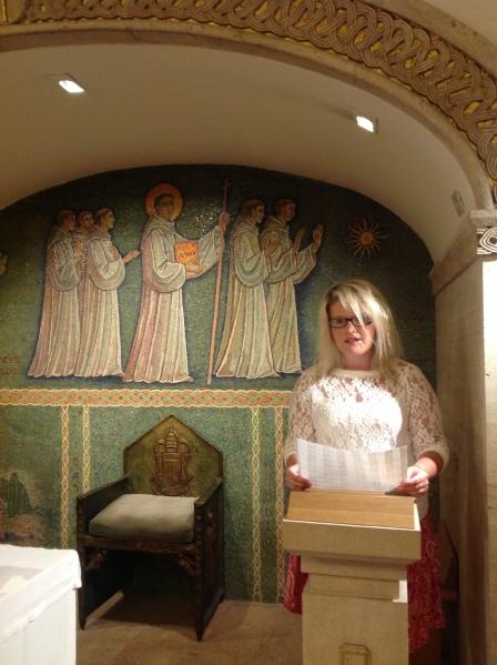 Cappella San Columbano (Crypt of St Peter's Basilica, Rome) 24 July 2013.